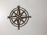Compass with rust finish, 20