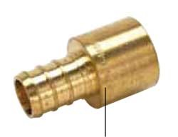 "1"" Crimp x 1"" Female Sweat Adapter"